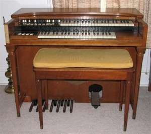 Here's the organ from when we first moved in to our current house.