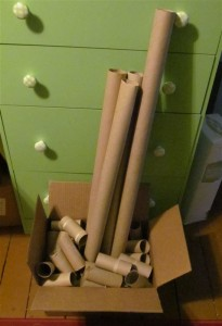 Toilet paper and gift wrap tubes