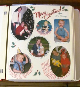 My first scrapbook page Christmas Card