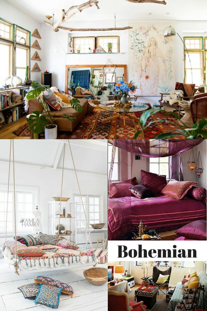 Bohemian design style examples
