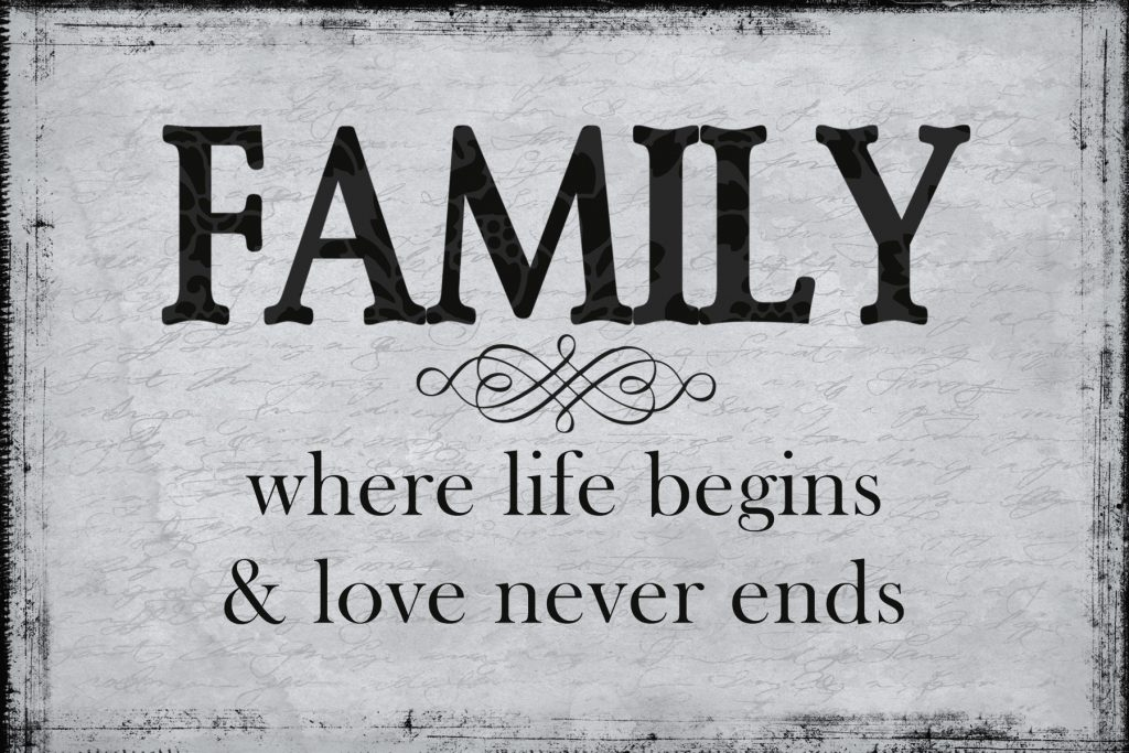 Free Printable Family quote