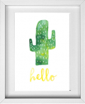 Cactus watercolor from 14 Fun Summer Printables for FREE -Calmandcollected.us