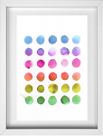 Abstract Rainbow art printable from 14 Fun Summer Printables for FREE -Calmandcollected.us