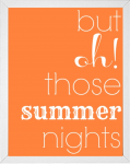 Summer Nights song quote printable from 14 Fun Summer Printables for FREE -Calmandcollected.us