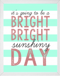 Bright Sunshiny Day song quote printable from 14 Fun Summer Printables for FREE -Calmandcollected.us