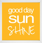 Good day sunshine quote printable from 14 Fun Summer Printables for FREE -Calmandcollected.us
