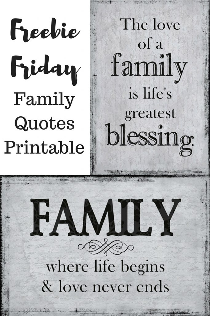 Freebie Friday Family Quotes Printable