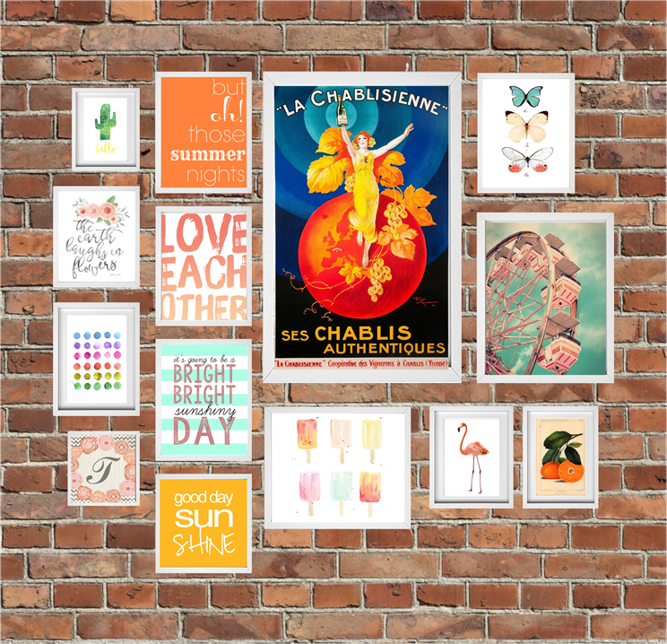 14 FuFree Printables for a Summer Gallery Wall curated by Calmandcollect.us