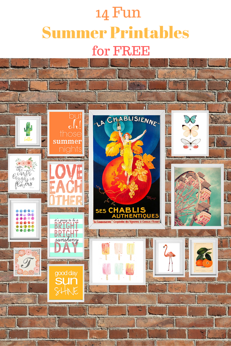 14 fun Summer printables for your gallery wall- free. Curated by calmandcollected.us