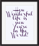 "Printable quote ""How Wonderful life is now you're in the world."""