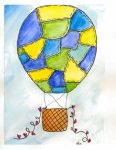 hot air balloon printable from 24 Travel Printables for Free Curated by CalmandCollected.us