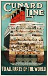 Cunard Line Vintage Poster printable from 24 Travel Printables for Free Curated by CalmandCollected.us