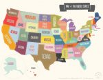 Map of the US printable from 24 Travel Printables for Free Curated by CalmandCollected.us