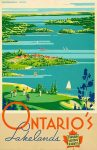 Ontario Lakelands poster printable from 24 Travel Printables for Free Curated by CalmandCollected.us