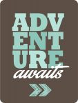 Adventure awaits journal card from 24 Travel Printables for Free Curated by CalmandCollected.us