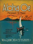 Aloha Oe Sheet music cover printable from 24 Travel Printables for Free Curated by CalmandCollected.us