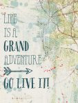 Life is a grand adventure printable from 24 Travel Printables for Free Curated by CalmandCollected.us