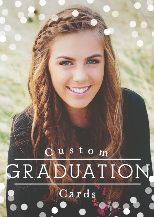 Article about custom graduation cards at Basic Invite by Calm and Collected blogger, Jennifer Terry