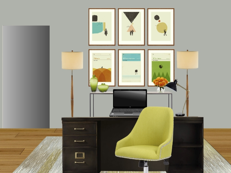 Retro Star Wars posters in a Design concept for a Star Wars themed Home office for adults! designed by Jennifer Terry of Calm & Collected