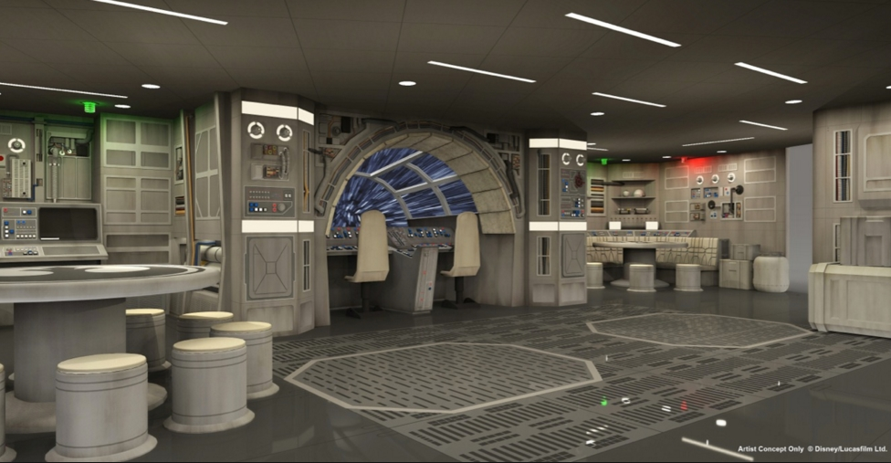 Inspirational image- the Millenium Falcon used to design a home office
