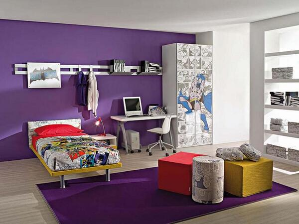 Interior Decorator Calm & Collected shared this interior design photo of a purple room from Nerolac Paints